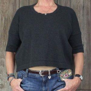 Lululemon Short Sleeve Sweater 10 M size Gray